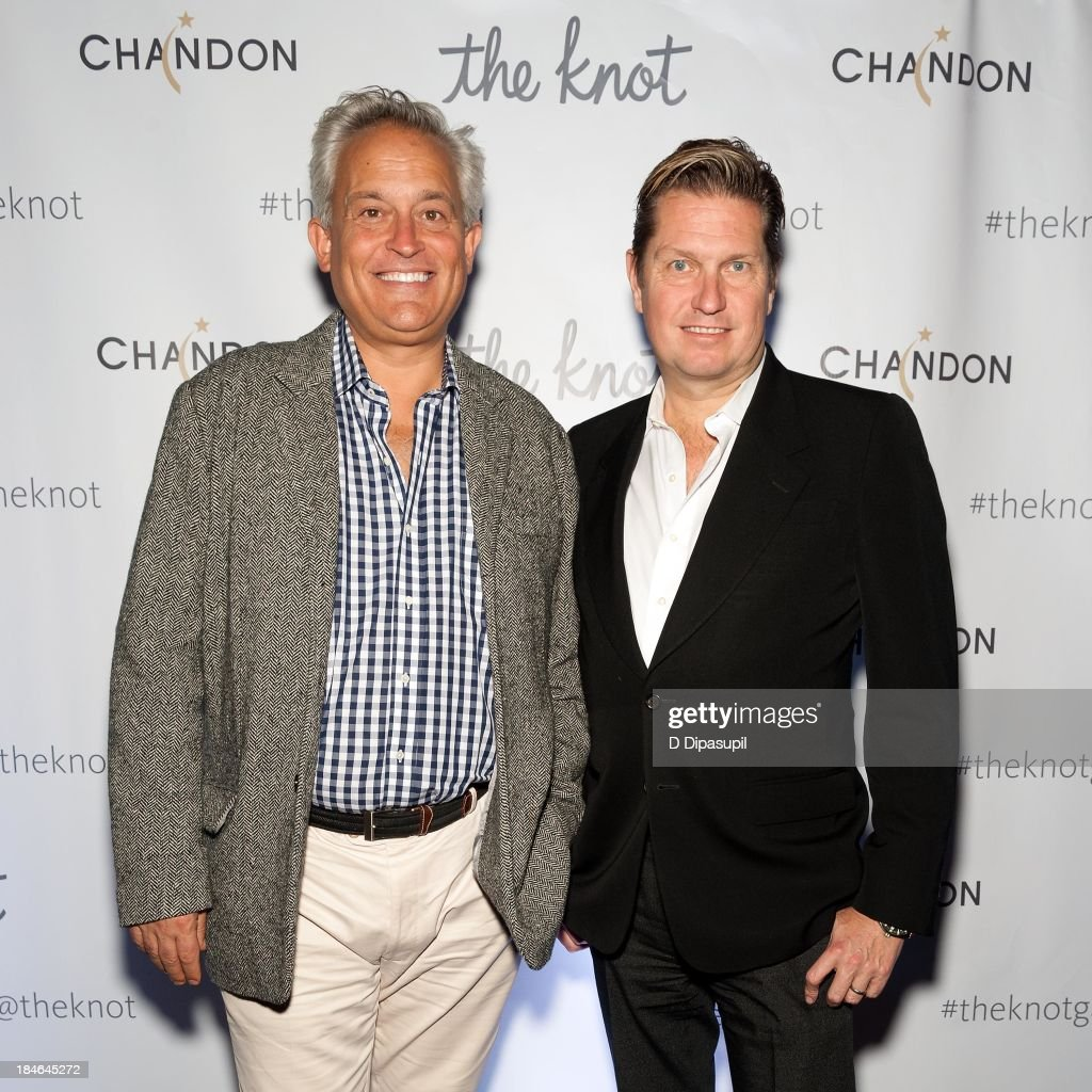 Fashion designers Mark Badgley (L) and <a gi-track='captionPersonalityLinkClicked' href=/galleries/search?phrase=James+Mischka&family=editorial&specificpeople=642521 ng-click='$event.stopPropagation()'>James Mischka</a> attend The Knot Gala at the New York Public Library - Astor Hall on October 14, 2013 in New York City.