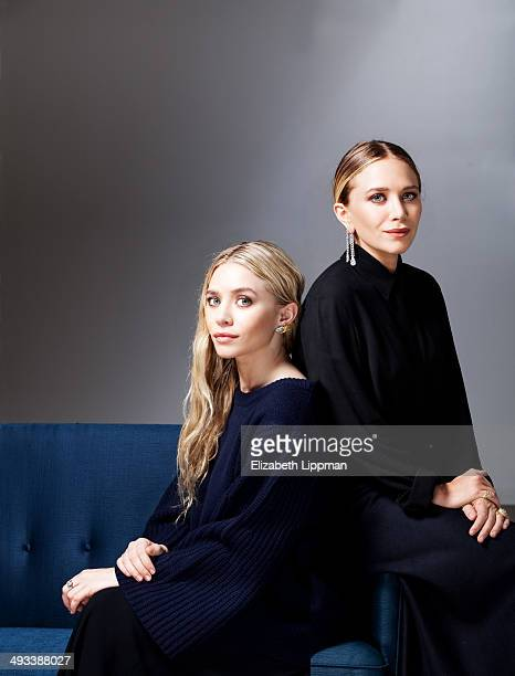 Fashion designers Mary Kate Olsen and Ashley Olsen are photographed for Wall Street Journal on May 2 2014 in New York City