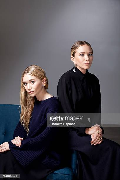 Fashion designers Mary Kate Olsen and Ashley Olsen are photographed for Wall Street Journal on May 2 2014 in New York City ON EMBARGO UNTIL JUNE 5...