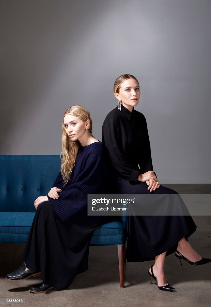 Fashion designers Mary Kate Olsen and Ashley Olsen are photographed for Wall Street Journal on May 2, 2014 in New York City.
