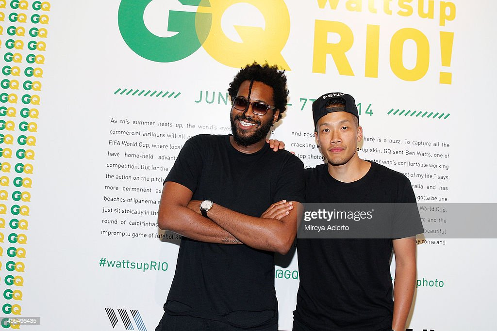 Fashion designers Maxwell Osborne and Dao-Yi Chow attend the GQ and Ben Watts Photo Exhibition celebrating the June issue and The World Cup at Milk Gallery on June 3, 2014 in New York City.