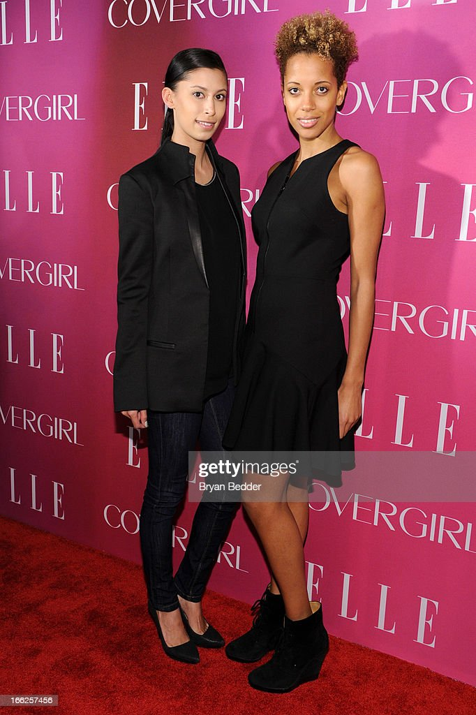 Fashion designers Michelle Ochs and Carly Cushnie attend the 4th Annual ELLE Women in Music Celebration at The Edison Ballroom on April 10, 2013 in New York City.