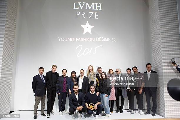 Fashion Designers Prize 2015 at the Foundation Louis Vuitton Simon Porte Jacquemus Marta Marques Paulo Almeida JeanPaul Claverie JW Anderson Humberto...