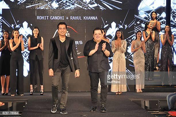 Fashion Designers Rohit Gandhi and Rahul Khanna at the Blenders Pride Fashion Tour 2016 on November 262016 in Eastern India city Kolkata