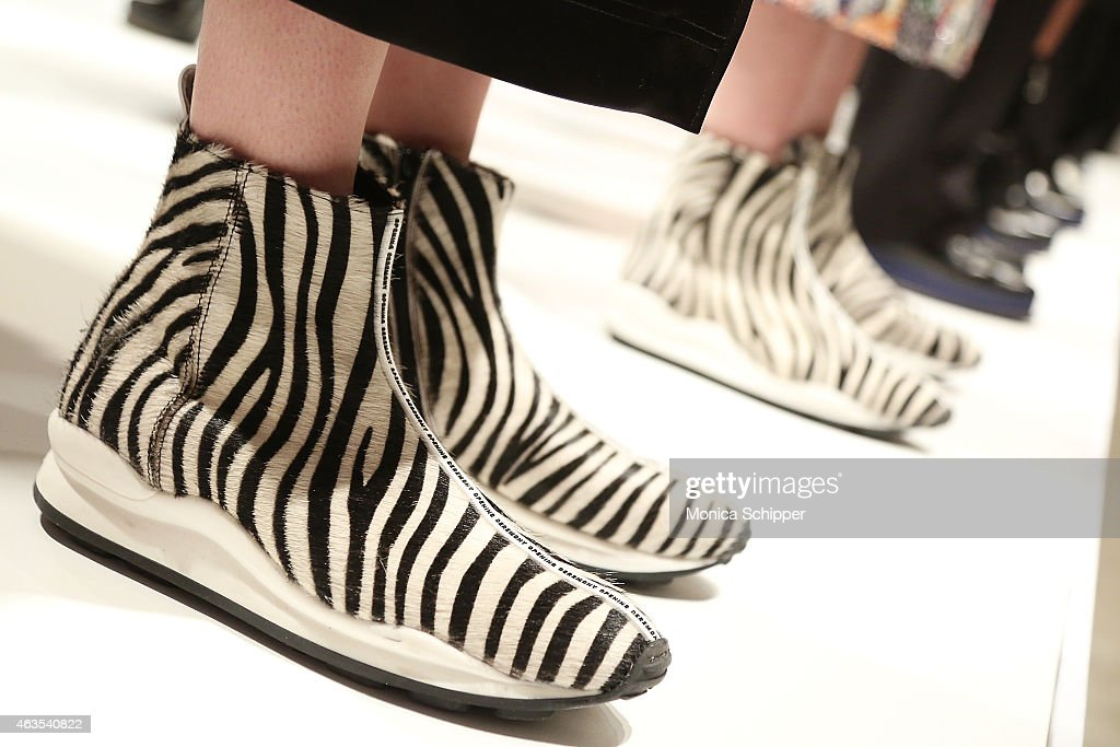 Fashion detail at the Opening Ceremony presentation during MercedesBenz Fashion Week Fall 2015 on February 15 2015 in New York City