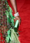 Fashion detail of Lupita Nyong'o at the 'Charles James Beyond Fashion' Costume Institute Gala at the Metropolitan Museum of Art on May 5 2014 in New...