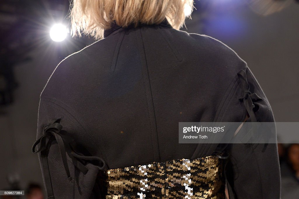 A fashion detail of O'2nd Fall 2016 during New York Fashion Week: The Shows at The Space, Skylight at Clarkson Sq on February 12, 2016 in New York City.