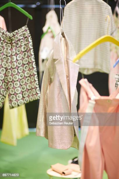 Fashion detail of WHITE MAN AND WOMAN on June 19 2017 in Milan Italy