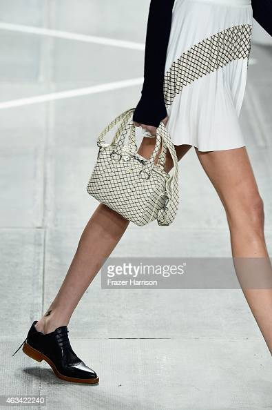 A fashion detail on the runway at the Lacoste fashion show during MercedesBenz Fashion Week Fall 2015 at The Theatre at Lincoln Center on February 14...