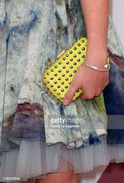 A fashion details are seen as actress Helena Phil attends Wolfschildren Photocall during The 70th Venice International Film Festivalon August 29 2013...
