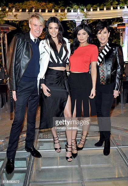Fashion Director and SVP at Neiman Marcus Ken Downing Kendall Jenner Kylie Jenner and Kris Jenner attend as Neiman Marcus celebrates the exclusive...