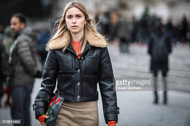 Fashion Director at The You Way Pernille Teisbaek is seen after the Mugler show during Paris Fashion Week Womenswear Fall Winter 2016/2017 on March 5...