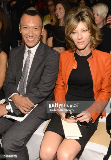 Fashion director of Elle Joe Zee and Editorinchief of Elle Roberta Myers attend the Michael Kors Spring 2013 fashion show during MercedesBenz Fashion...