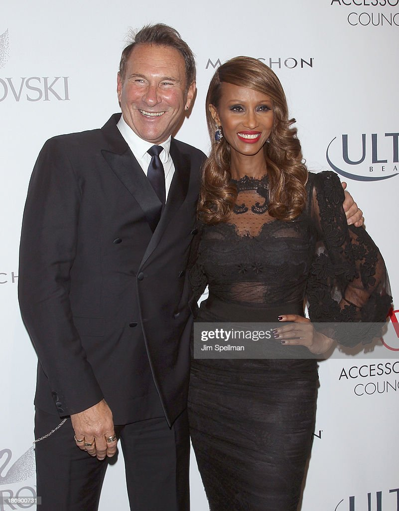Fashion Director of InStyle magazine <a gi-track='captionPersonalityLinkClicked' href=/galleries/search?phrase=Hal+Rubenstein&family=editorial&specificpeople=216520 ng-click='$event.stopPropagation()'>Hal Rubenstein</a> and model <a gi-track='captionPersonalityLinkClicked' href=/galleries/search?phrase=Iman+-+Fashion+Model&family=editorial&specificpeople=132463 ng-click='$event.stopPropagation()'>Iman</a> attend the 17th annual ACE Awards at Cipriani 42nd Street on November 4, 2013 in New York City.