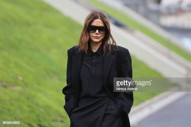 Fashion Director of Vogue Australia Christine Centenera attends the Haider Ackermann show as part of the Paris Fashion Week Womenswear Spring/Summer...