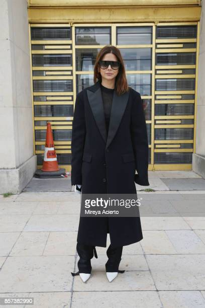 Fashion director of Vogue Australia Christine Centenera attends the Hermes show as part of the Paris Fashion Week Womenswear Spring/Summer 2018 on...
