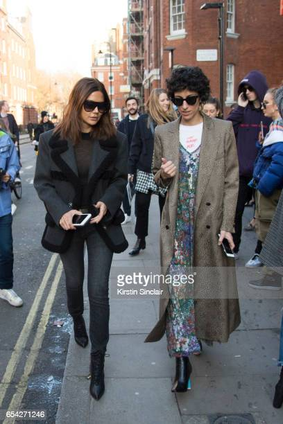 Fashion director of Vogue Australia Christine Centenera with Stylecom fashion editor Yasmin Sewell wearing a Herculie T shirt and Celine sunglasses...