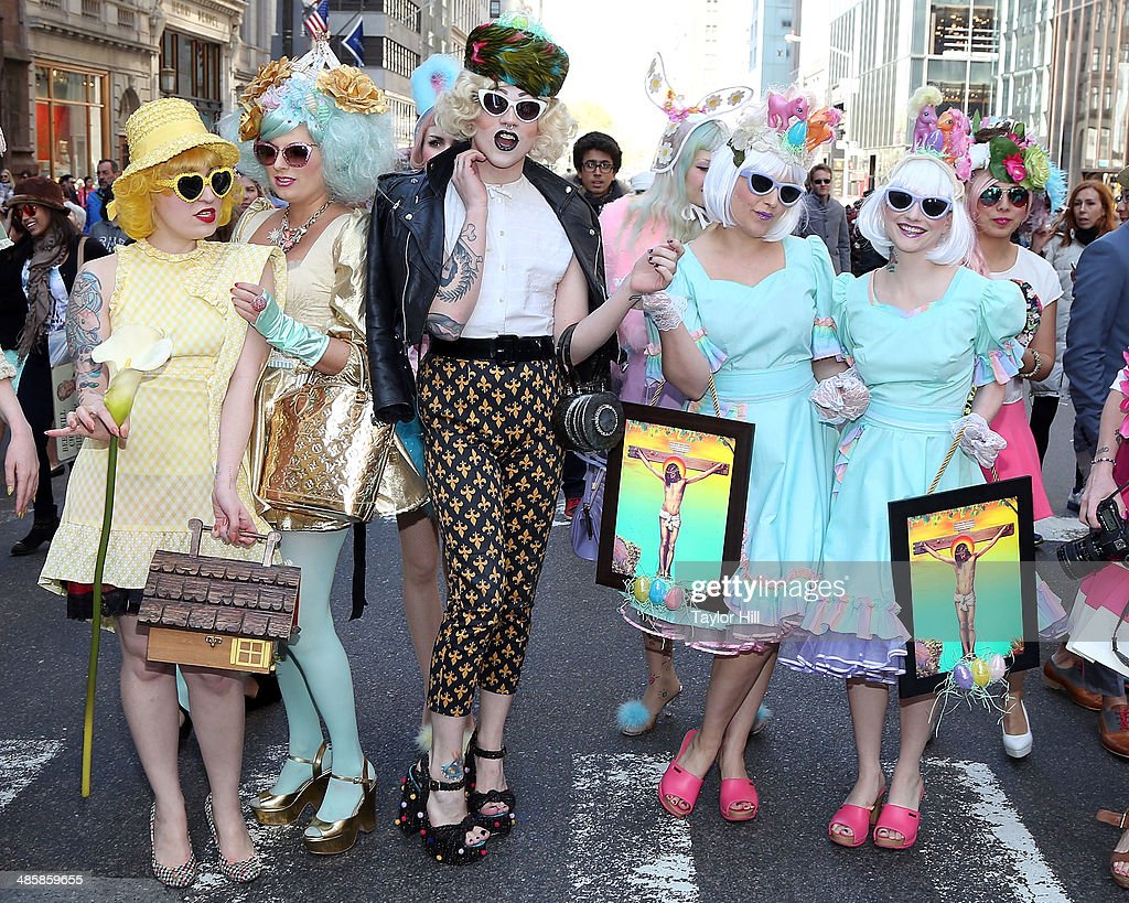 Fashion during the Easter Parade as seen on Easter Sunday on April 20, 2014 in New York City.