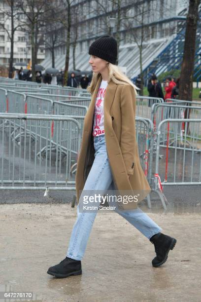 Fashion Editor and Co founder of heywomancom Veronica Heilbrunner on day 2 during Paris Fashion Week Autumn/Winter 2017/18 on March 1 2017 in Paris...