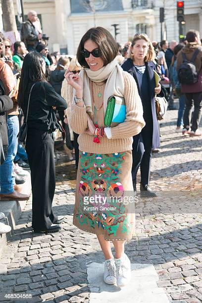 Fashion editor and stylist Viviana Volpicella on day 9 of Paris Collections Women on March 11 2015 in Paris France