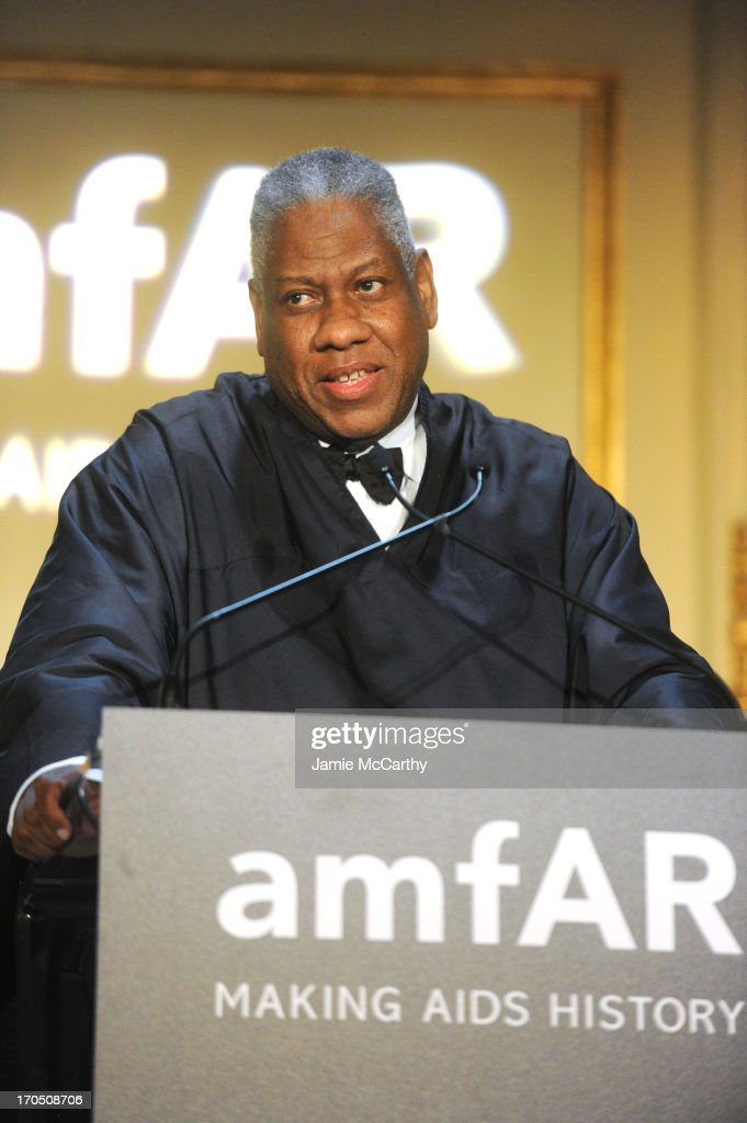 Fashion Editor <a gi-track='captionPersonalityLinkClicked' href=/galleries/search?phrase=Andre+Leon+Talley&family=editorial&specificpeople=171165 ng-click='$event.stopPropagation()'>Andre Leon Talley</a> performs during the 4th Annual amfAR Inspiration Gala New York at The Plaza Hotel on June 13, 2013 in New York City.