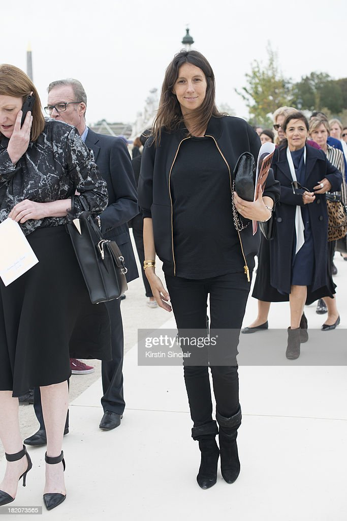 Fashion editor at Vogue France Geraldine Saglio on day 3 of Paris Fashion Week Spring/Summer 2014, Paris September 26, 2013 in Paris, London.