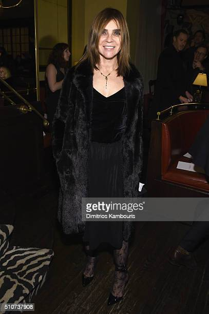 Fashion editor Carine Roitfeld attends the Brandon Maxwell A/W 2016 fashion show during New York Fashion Week at The Monkey Bar on February 16 2016...