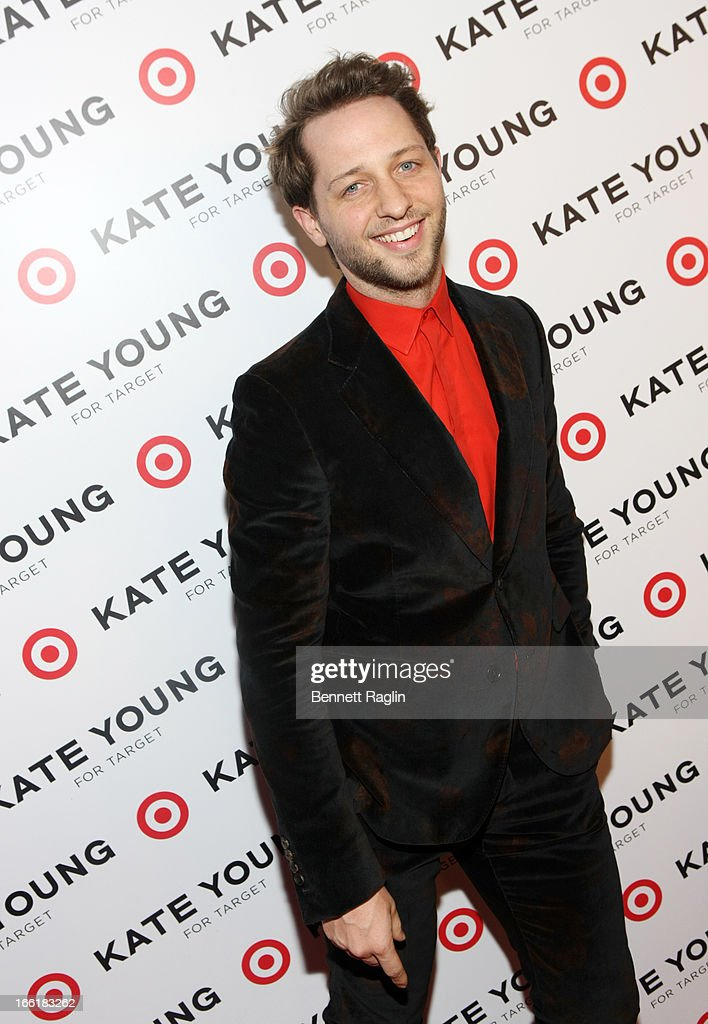 Fashion Editor <a gi-track='captionPersonalityLinkClicked' href=/galleries/search?phrase=Derek+Blasberg&family=editorial&specificpeople=856710 ng-click='$event.stopPropagation()'>Derek Blasberg</a> attends the Kate Young For Target Launch at The Old School NYC on April 9, 2013 in New York City.