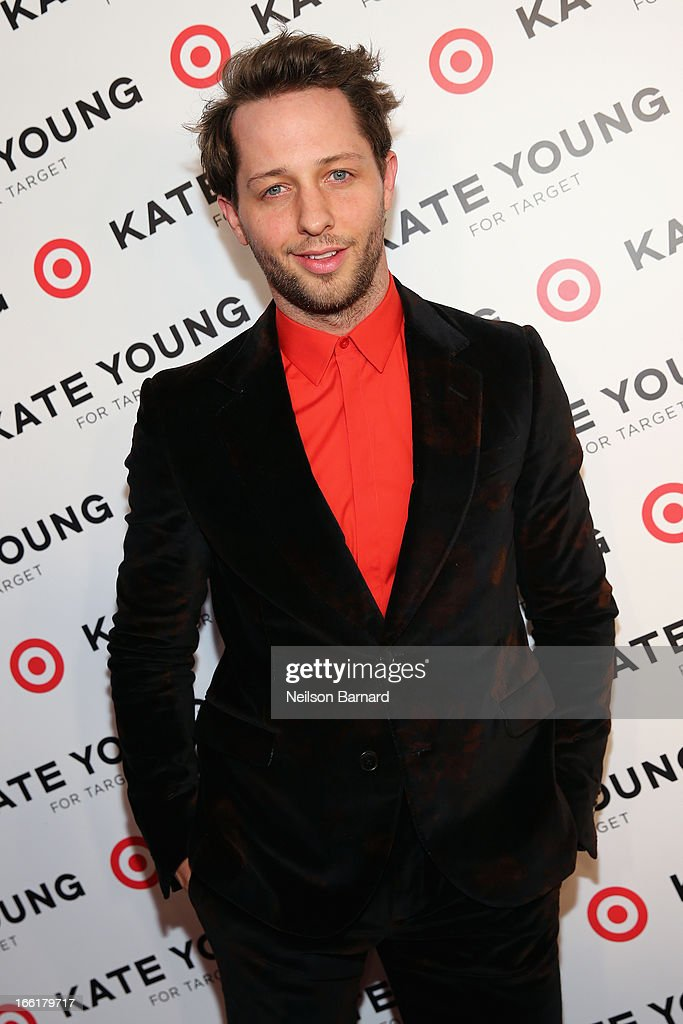 Fashion editor <a gi-track='captionPersonalityLinkClicked' href=/galleries/search?phrase=Derek+Blasberg&family=editorial&specificpeople=856710 ng-click='$event.stopPropagation()'>Derek Blasberg</a> attends the Kate Young for Target launch event on April 9, 2013 in New York City.