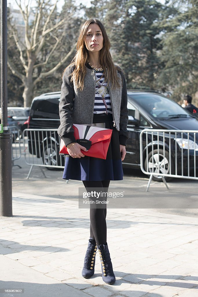 Street Style On March 3 2013 Paris Fashion Week Getty Images