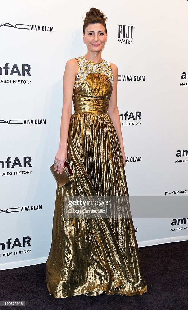 Fashion editor Giovanna Battaglia attends amfAR New York Gala To Kick Off Fall 2013 Fashion Week at Cipriani, Wall Street on February 6, 2013 in New York City.