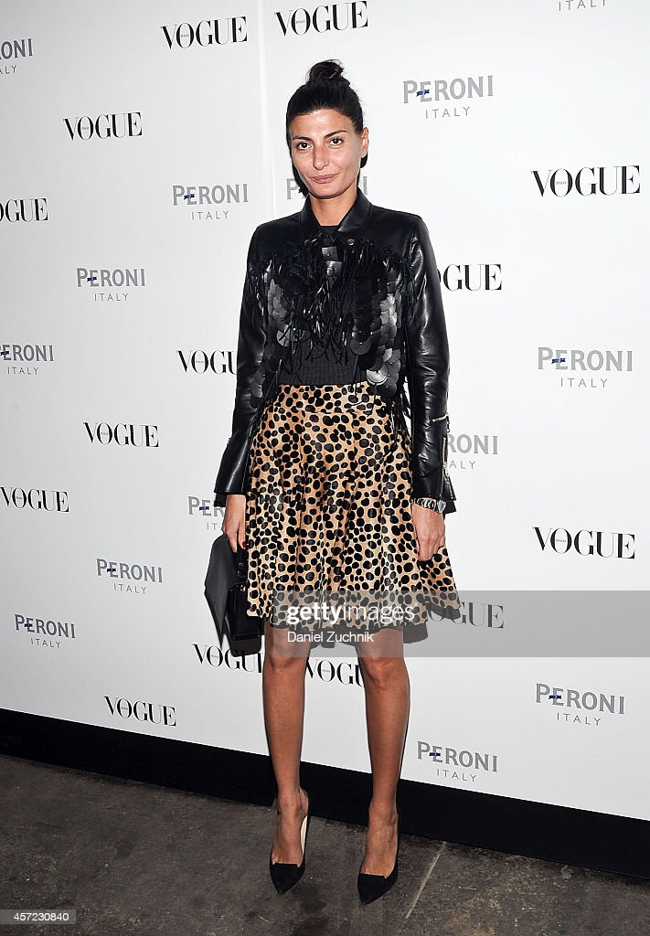 Fashion editor Giovanna Battaglia attends The Visionary World of Vogue Italia Exhibition Opening Night presented by Peroni Nastro Azzurro at...