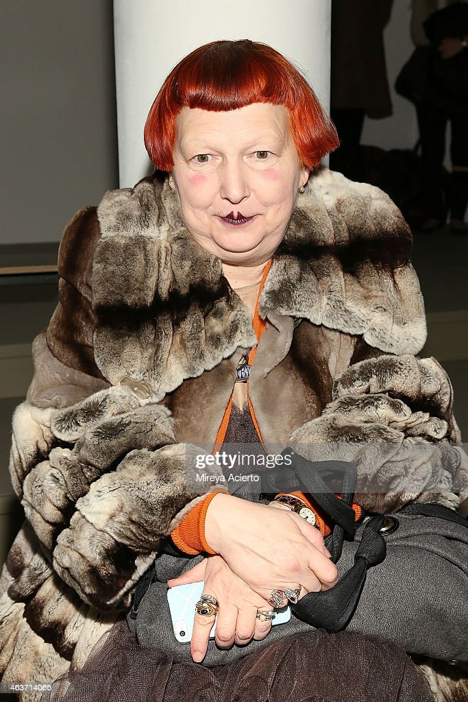 Fashion editor Lynn Yaeger attends the KTZ runway show during MADE Fashion Week Fall 2015 at Milk Studios on February 17, 2015 in New York City.