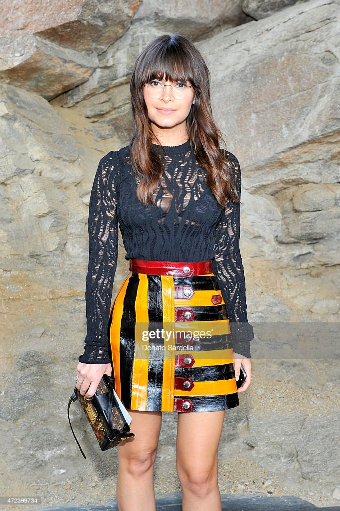 Fashion editor Miroslava Duma attends the Louis Vuitton Cruise 2016 Resort Collection shown at a private residence on May 6 2015 in Palm Springs...