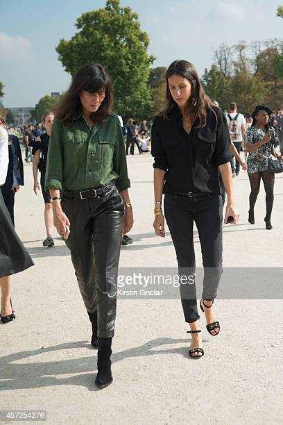 Fashion Editor of Vogue France with Assistant Stylist to French Vogue Geraldine Saglio on day 8 of Paris Collections Women on September 30 2014 in...