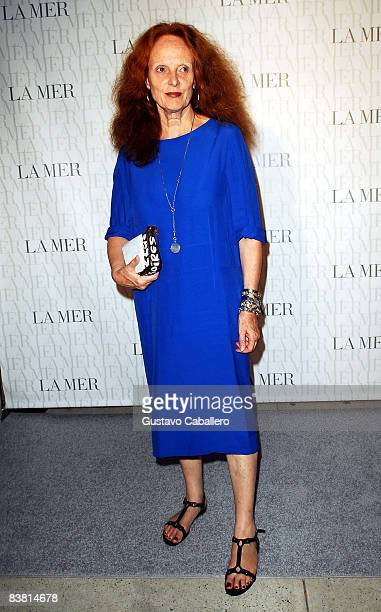 Fashion Editor of Vogue Grace Coddington attends the Le Mer Celebrates 'Liquid Light' By Fabien Baron at The Glass House on September 10 2008 in New...