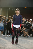 Fashion Editor/Stylist Anya Ziorouva on Day 3 of New York Fashion Week Spring/Summer 2015 on September 6 2014 in New York City