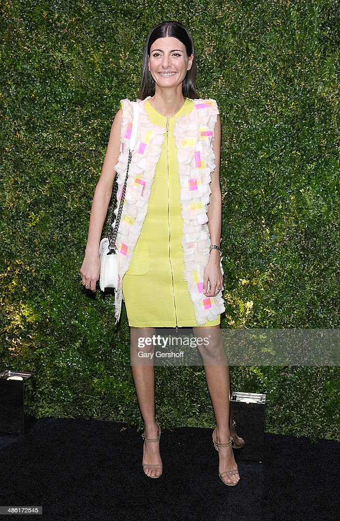 Fashion editor/stylist <a gi-track='captionPersonalityLinkClicked' href=/galleries/search?phrase=Giovanna+Battaglia&family=editorial&specificpeople=2215032 ng-click='$event.stopPropagation()'>Giovanna Battaglia</a> attends the Chanel Tribeca Film Festival Artist Dinner at Balthazer on April 22, 2014 in New York City.