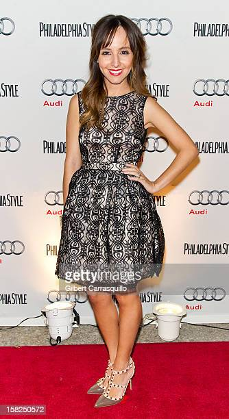 Fashion expert Lilliana Vazquez attends Philadelphia Style magazine's holiday issue cover event at the Hotel Monaco on December 11 2012 in...