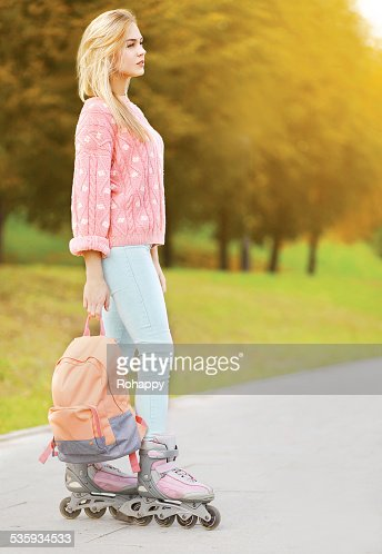 Fashion, extreme, youth and people concept - stylish hipster wom : Stock Photo