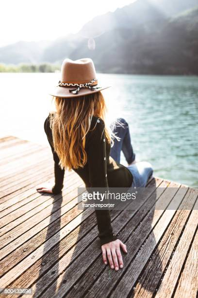 fashion folk woman on the jetty