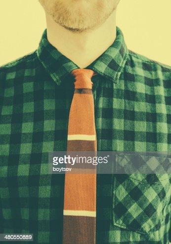 ELEGÂNCIA da moda com Gravata em estilo retro : Foto de stock