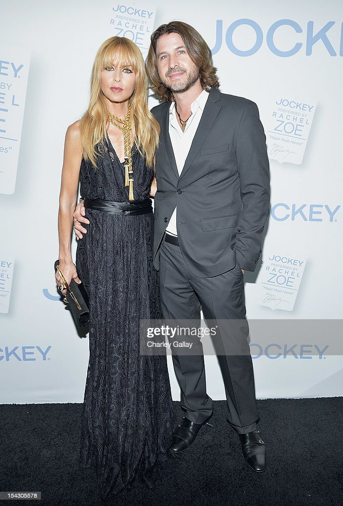 Fashion icon and stylist <a gi-track='captionPersonalityLinkClicked' href=/galleries/search?phrase=Rachel+Zoe+-+Stylist&family=editorial&specificpeople=546501 ng-click='$event.stopPropagation()'>Rachel Zoe</a> and Rodger Berman celebrate the launch of <a gi-track='captionPersonalityLinkClicked' href=/galleries/search?phrase=Rachel+Zoe+-+Stylist&family=editorial&specificpeople=546501 ng-click='$event.stopPropagation()'>Rachel Zoe</a>Õs ÒMajor Must HavesÓ from Jockey at Sunset Tower on October 17, 2012 in West Hollywood, California.
