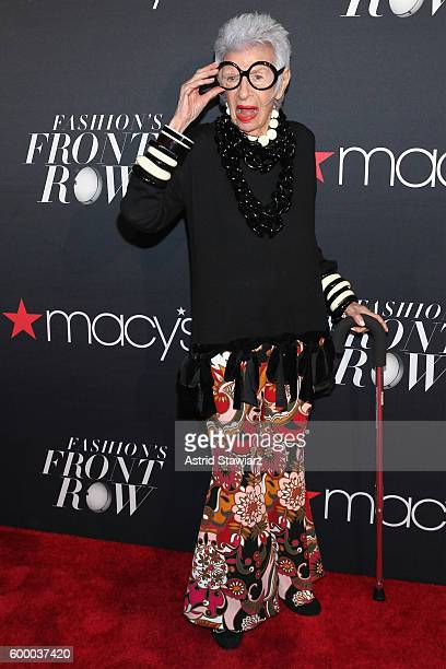 Fashion icon Iris Apfel attends Macy's Presents Fashion's Front Row on September 7 2016 in New York City