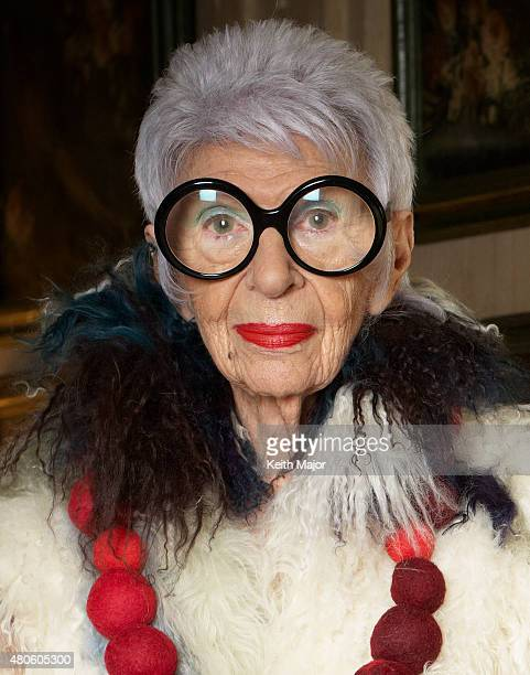 Fashion icon Iris Apfel is photographed for Avenue Magazine on February 13 in New York City