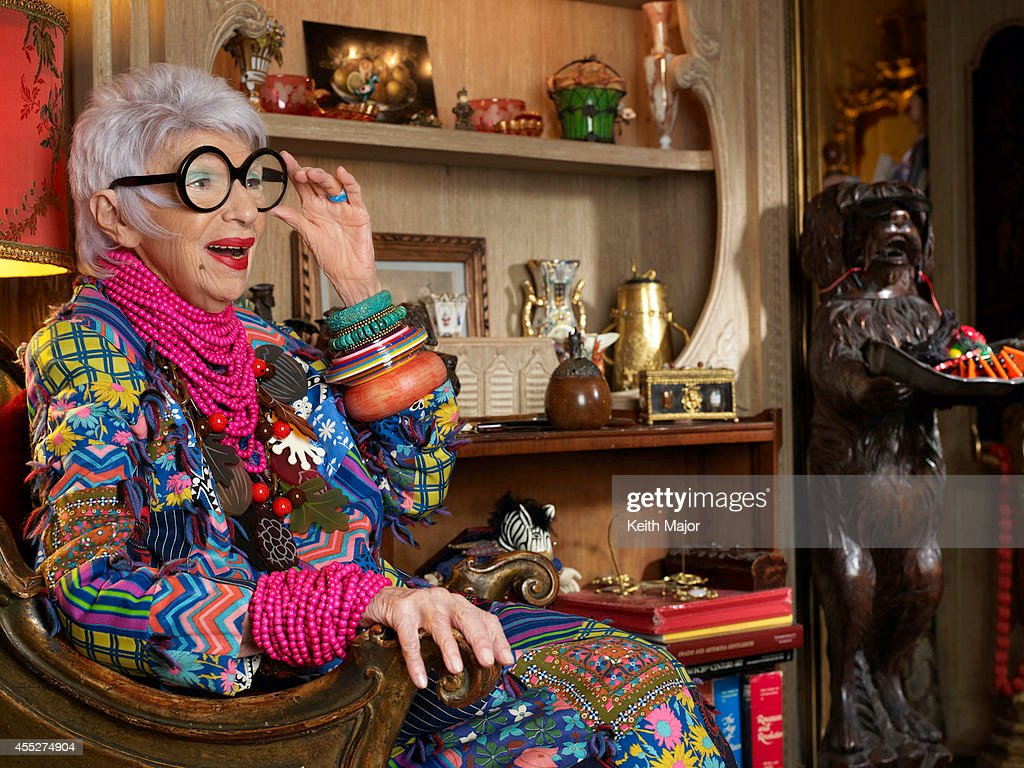 Fashion icon Iris Apfel is photographeed for Avenue Magazine on February 13, 2014 in New York City. PUBLISHED