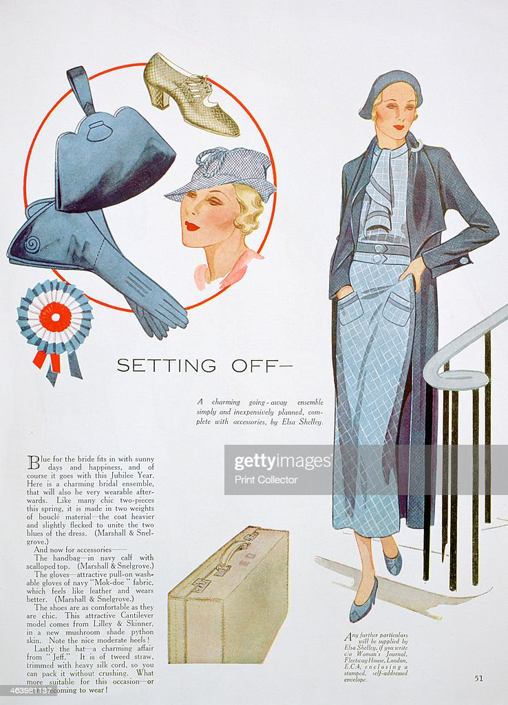 Fashion illustration 1935 A print from Womans Journal May 1935