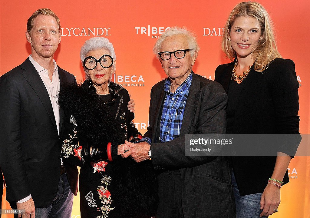CANDY -- 'Fashion in Film' at Tribeca Cinemas in New York City on Thursday September 19, 2013 -- Pictured: (l-r) Editor in Chief at DailyCandy Ashley Parrish, Filmmaker Matt Tyrnauer, filmmaker Albert Maysles, Iris Apfel, and General Manager & EVP at DailyCandy Alison Moore attend 'Fashion in Film,' a first-of-its-kind multi-platform event. --