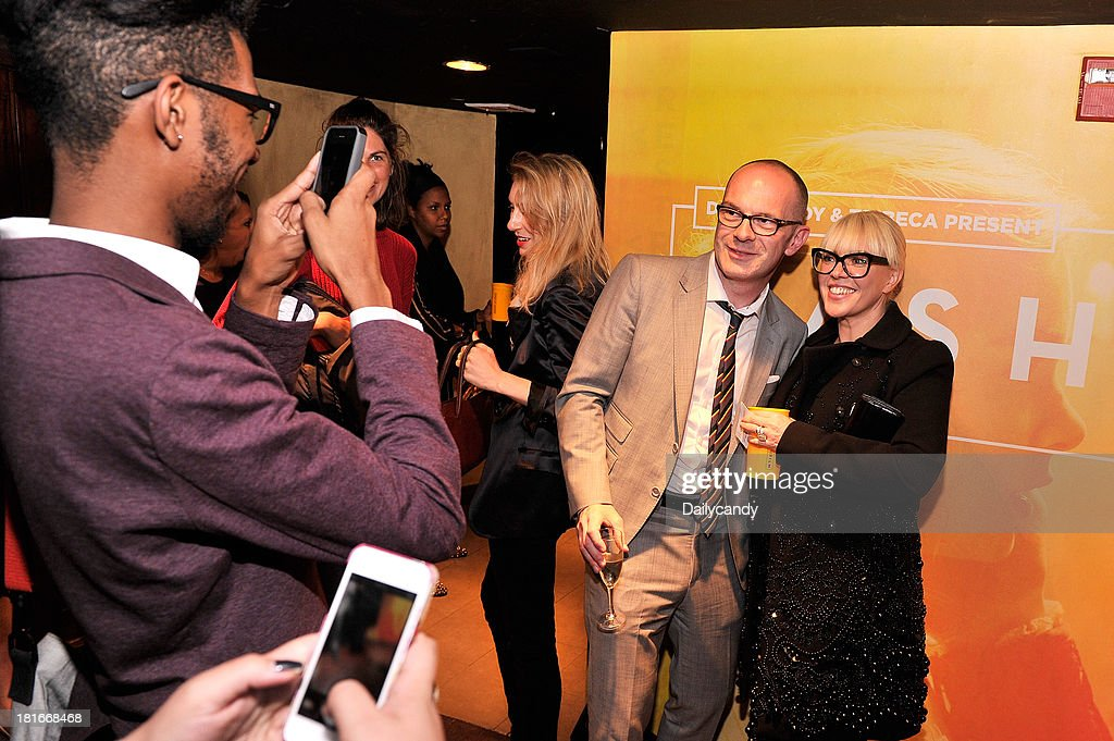 CANDY -- 'Fashion in Film' at Tribeca Cinemas in New York City on Thursday September 19, 2013 -- Pictured: (l-r) Parsons Dean of Fashion Simon Collins and production designer Catherine Martin attend 'Fashion in Film,' a first-of-its-kind multi-platform event. --