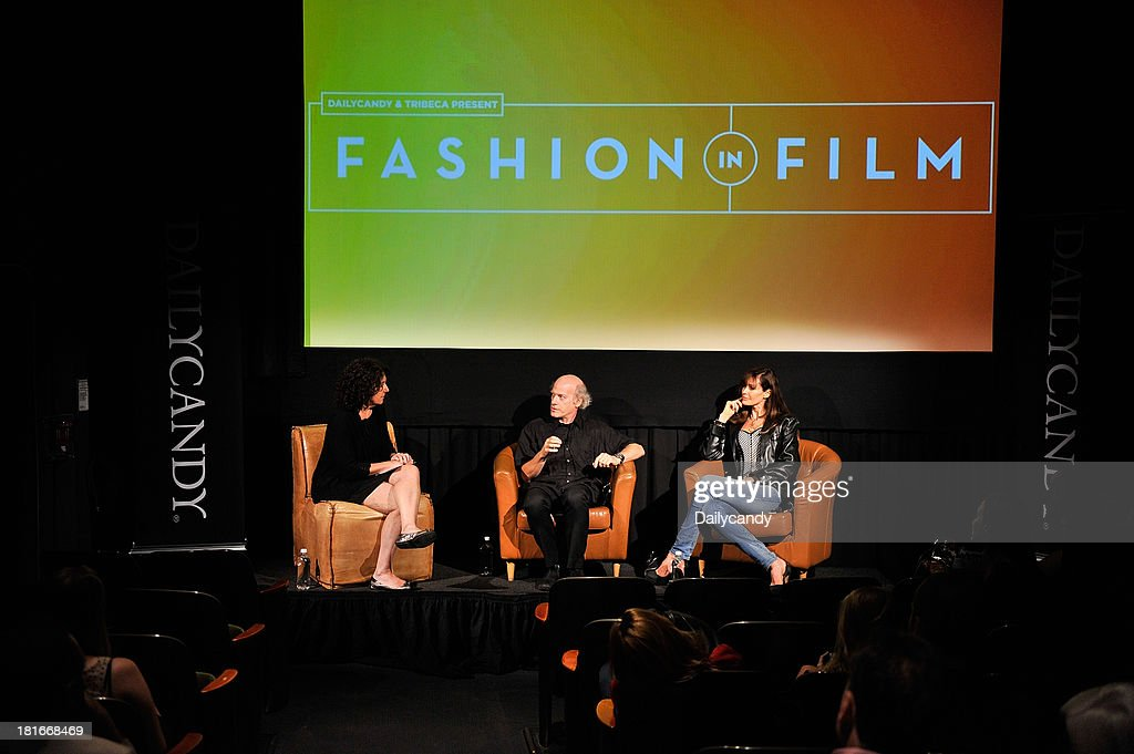 CANDY -- 'Fashion in Film' at Tribeca Cinemas in New York City on Thursday September 19, 2013 -- Pictured: (l-r) Tribeca Film Festival short film programmer Sharon Badal, Filmmaker Timothy Greenfield-Sanders and model Carol Alt participate in a Q&A session at 'Fashion in Film,' a first-of-its-kind multi-platform event. --